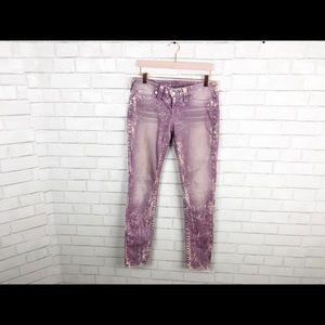 True Religion Elect Lavender Washed Skinny Jeans